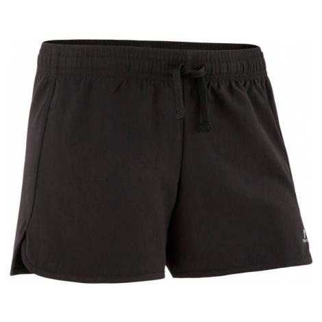 DOMYOS Dievčenské šortky S500 na cvičenie čierne ČIERNA 141-148cm10-11R