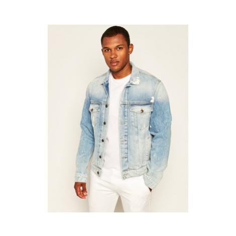 Pepe Jeans Džínsová bunda Pinner Random PM402280 Modrá Regular Fit