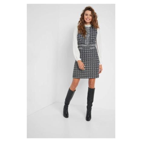 Tvídové šaty Orsay