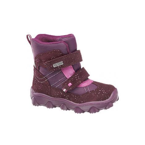 Bordovo-fialová zimná obuv s TEX membránou Elefanten