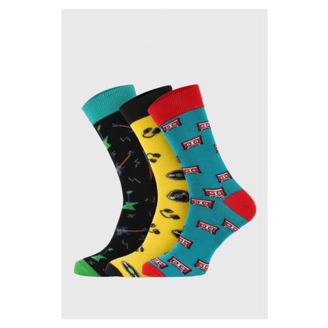 3 PACK vysokých ponožiek Bellinda Crazy Hobby