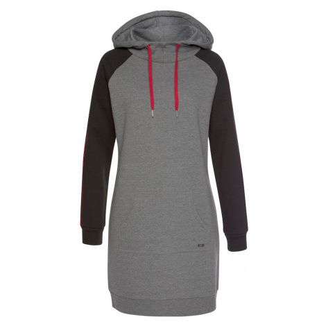 BUFFALO Šaty  sivá melírovaná / čierna