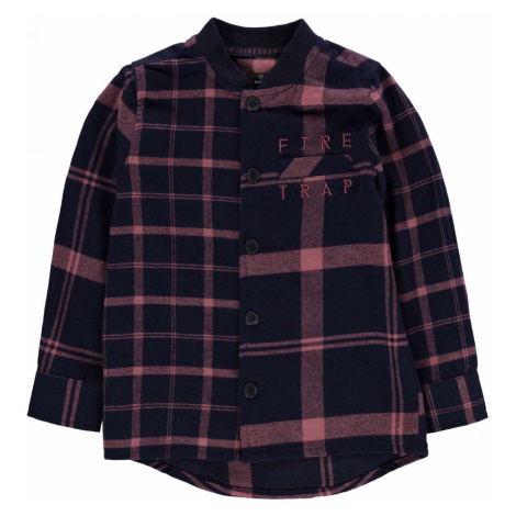 Firetrap Check Shirt Baby Boys Navy Check