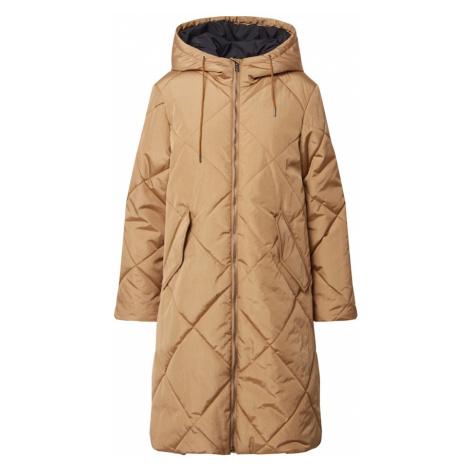 SELECTED FEMME Zimný kabát 'Maran'  svetlohnedá / tmavomodrá