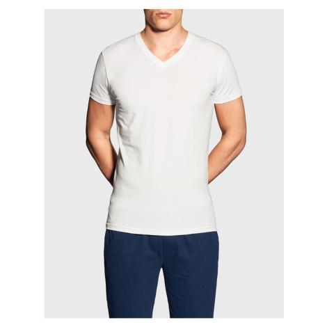 Men's T-shirt Gant V neck white