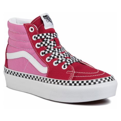 Sneakersy VANS - Sk8-Hi Platform 2 VN0A3TKNWVX1 (2-Tone) Chlepepr/Fchsiapnk