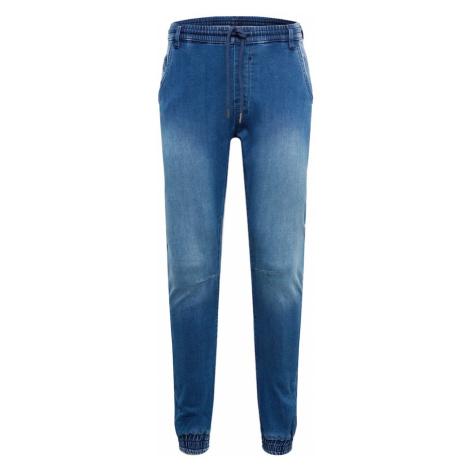 Urban Classics Džínsy 'Knitted Denim Jogpants'  modrá