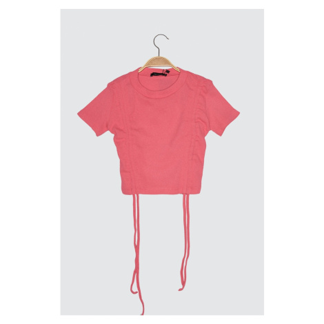 Trendyol Wick knitted blouse with Pink Assynx Detail