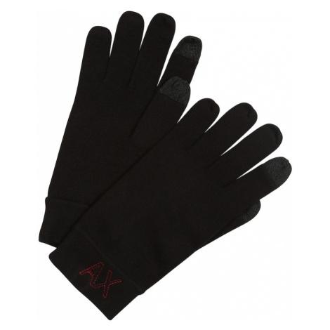 ARMANI EXCHANGE Prstové rukavice  čierna