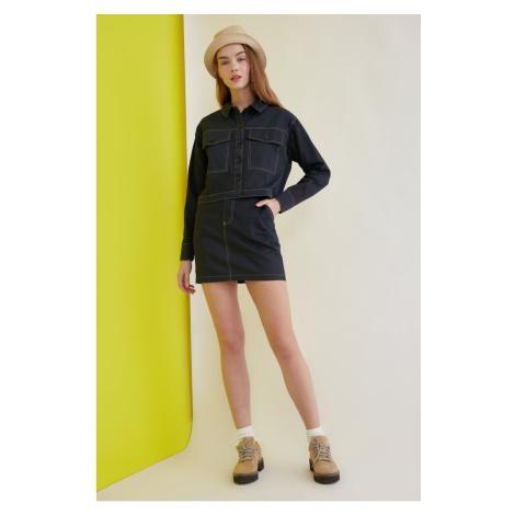Trendyol Navy Blue Basic Skirt