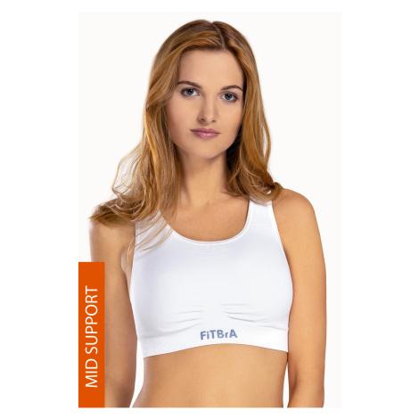 Športová podprsenka Fit Bra bezšvová biela Hanna Style