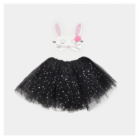 Sinsay - Súprava dievčenskej sukne a karnevalovej masky - Svetlošedá
