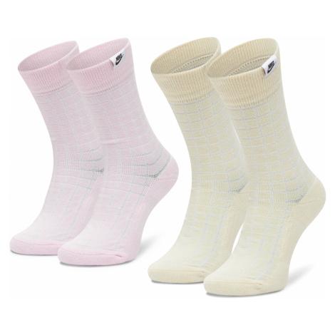 Súprava 2 párov vysokých ponožiek unisex NIKE