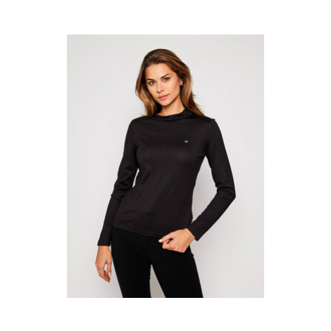 Calvin Klein Blúzka Liquid Touch Turtle K20K202343 Čierna Regular Fit
