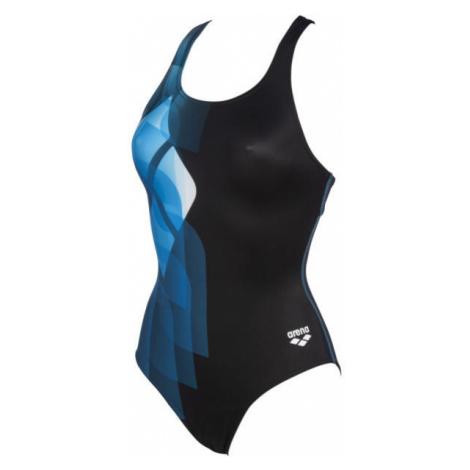 Arena MIRRORS SWIM PRO BACK ONE PIECE LB modrá - Dámske jednodielne plavky