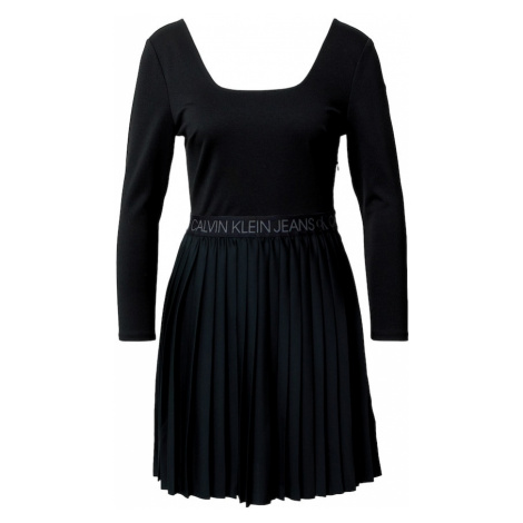 Calvin Klein Jeans Šaty  čierna / sivá