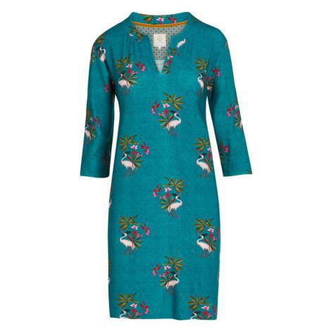 Pip Studio petrolejové domáce šaty My Heron Green