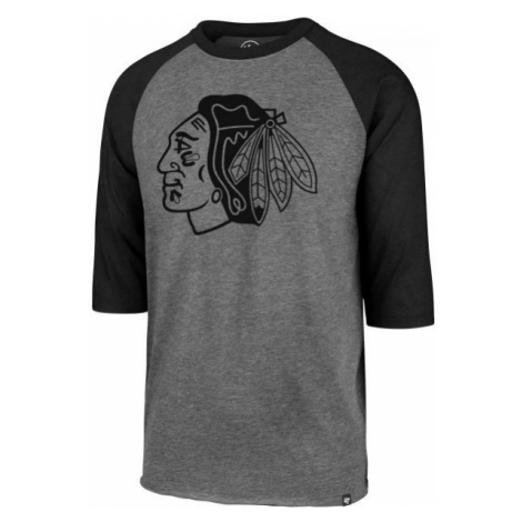47 NHL CHICAGO BLACKHAWKS IMPRINT 47 CLUB RAGLAN TEE čierna - Pánske tričko