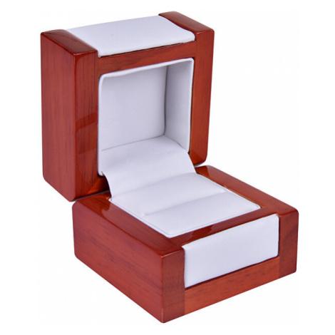 JK Box Svetlá drevená krabička na prsteň DN-2 / A1 JKbox