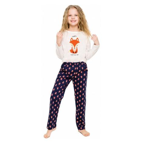 Dievčenské pyžamo Sofinka béžové s líškou Taro