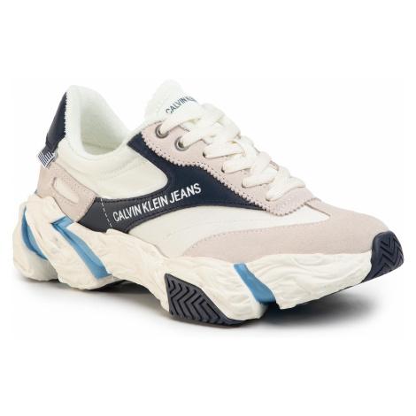 Sneakersy CALVIN KLEIN JEANS - Sigma B4R0884  Bright White/Navy