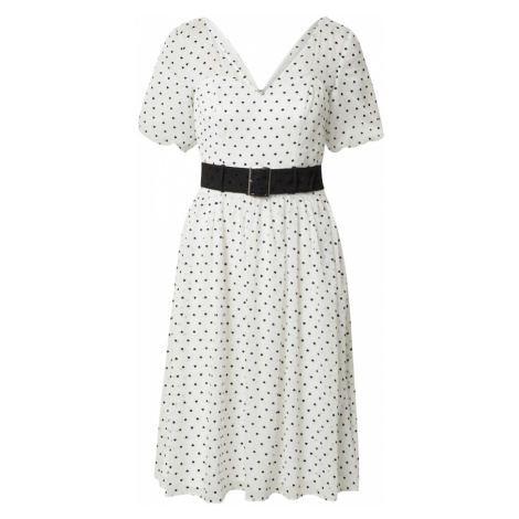 Chi Chi London Šaty  biela / čierna