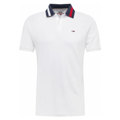 Tommy Jeans Tričko  biela / červená / modrá