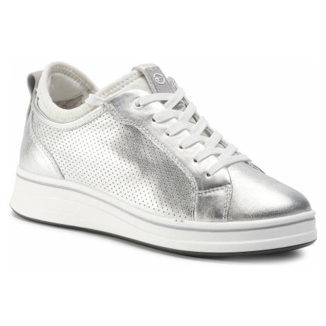 Sneakersy TAMARIS - 1-23716-24  Silver/White 950