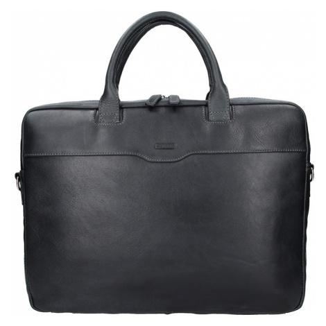 Dámska kožená taška na notebook Katana Evelin - čierna