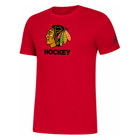 Pánske tričko adidas Amplifier SS Tee NHL Chicago Blackhawks
