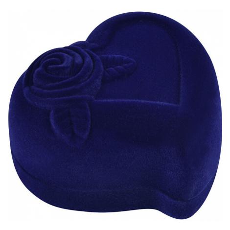 JK Box Modrá darčeková krabička na náušnice alebo prsteň Srdce F-79 / A14 JKbox