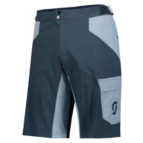 Scott TRAIL FLOW W/PAD JR modrá - Detské šortky