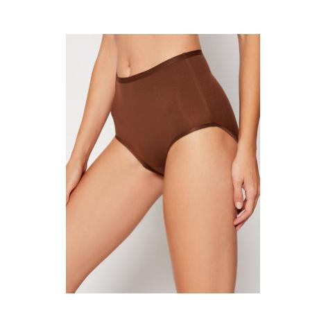 Chantelle Klasické nohavičky s vysokým pásom Soft Stretch Culotte Haute C26470 Hnedá