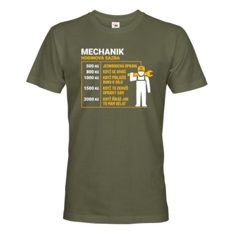 Pánske tričko pre mechanikov - hodinová sadzba