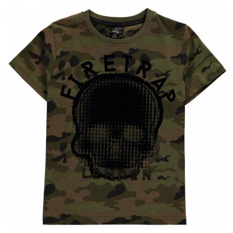 Firetrap Short Sleeve T Shirt Junior Boys Camo AOP