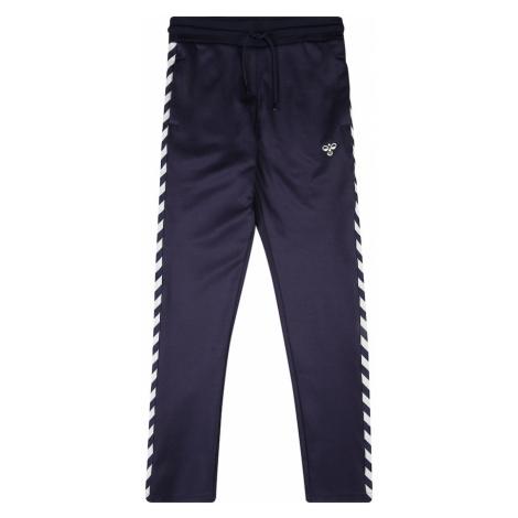 Hummel Športové nohavice  biela / námornícka modrá