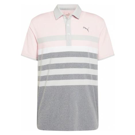 PUMA Funkčné tričko 'MATTR One Way'  pastelovo ružová / sivá melírovaná / svetlosivá