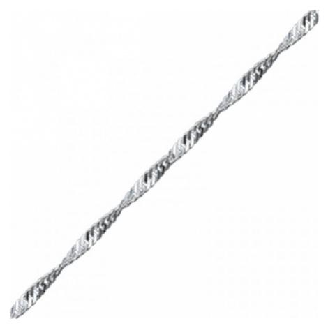 OLIVIE Strieborná retiazka 55 cm TWIST 3535