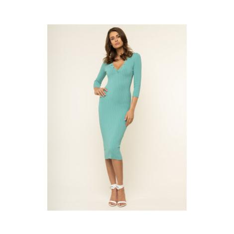 Elisabetta Franchi Každodenné šaty AM-13S-01E2-V319 Zelená Slim Fit