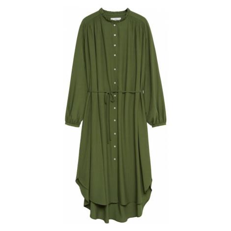 MANGO Košeľové šaty 'Farm'  kaki