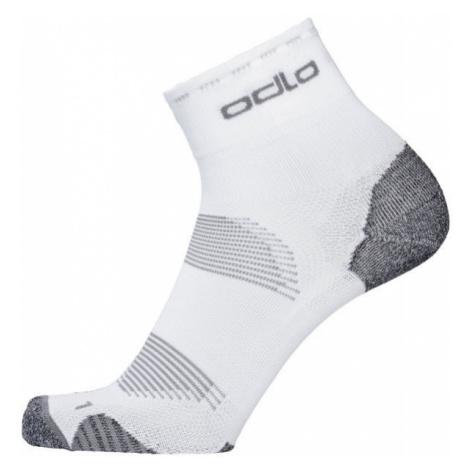 Odlo SOCKS CERAMICOOL CYCLING QUARTER biela - Unisex ponožky