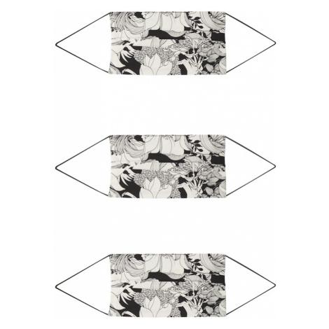 ONLY Látkové rúško '3er Pack ONLCOMMUNITY'  čierna / biela