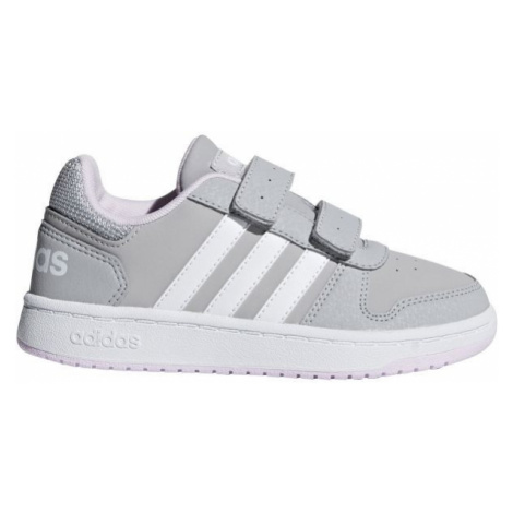 adidas HOOPS 2.0 CMF C sivá - Detská obuv