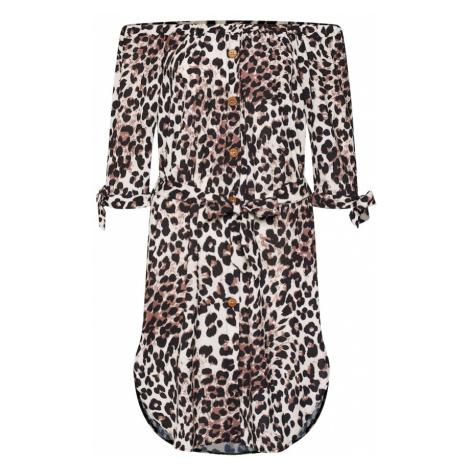 Mela London Letné šaty  béžová / hnedá / čierna