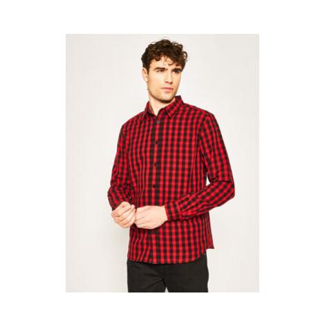 Wrangler Košeľa W5A14MXWO Červená Regular Fit