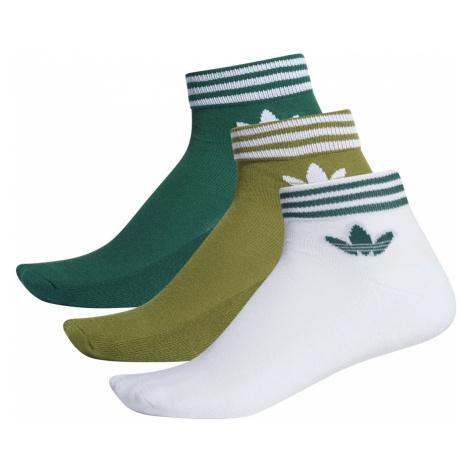 Adidas Trefoil Ankle Sock 3Pp zelená
