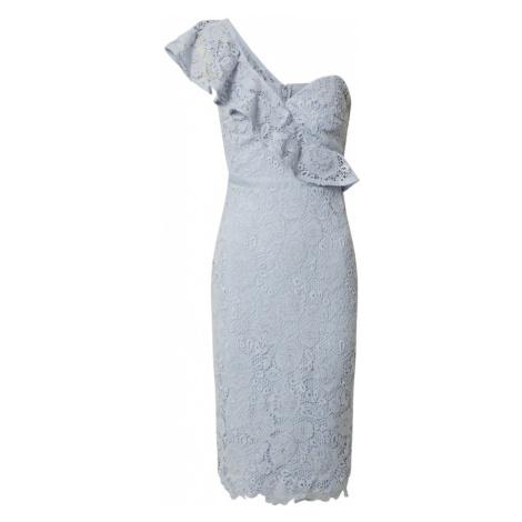 Lipsy Kokteilové šaty 'AC ONE SHOULDER CORNFLOWER LACE'  modrá