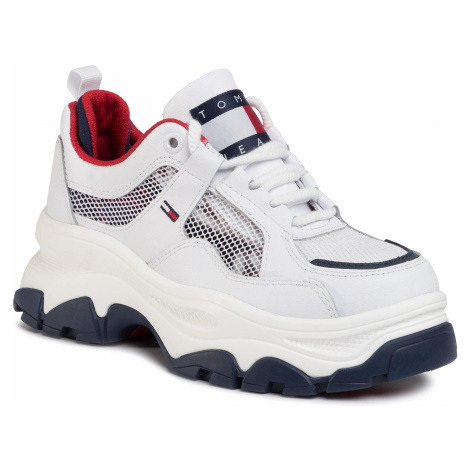 Sneakersy TOMMY JEANS - Recycled Mesh Flatform Shoe EN0EN00808 Rwb C87 Tommy Hilfiger