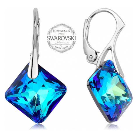 Levien Trblietavé náušnice s modrými kryštálmi Princess