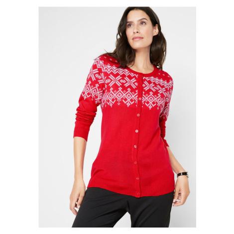 Pletený sveter s nórskym vzorom bonprix